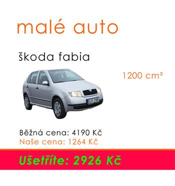Pojistka na auto - malé auto fabia